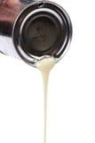 Fin lait en boîte vers le haut photographie stock