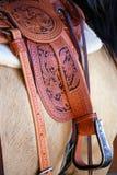 fin leatherwork Arkivbilder