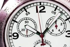 Fin mécanique d'horloge de cadran Photos libres de droits