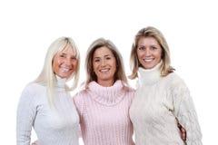 Fin mûre de la femme trois ensemble Photo libre de droits