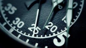 Fin militaire de visage d'horloge de chronomètre  banque de vidéos
