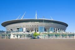 Fin moderne de ` d'arène de St Petersburg de ` de stade pendant l'après-midi ensoleillé de mai Photos libres de droits