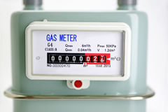 Fin naturelle de compteur à gaz  Image libre de droits