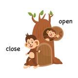 Fin opposée et illustration ouverte illustration stock