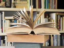 Fin ouverte de livre  photographie stock