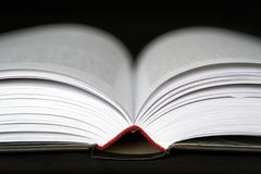 Fin ouverte de livre vers le haut Images libres de droits
