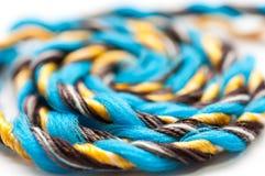 Fin plasic colorée de corde vers le haut de macro tir Photos stock