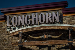 Fin principale de signe de grill de Longhorn  Images stock