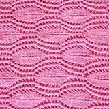Fin rose tricotée à la main de modèle  Photographie stock libre de droits