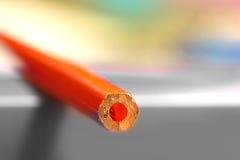 Fin rouge de crayon vers le haut de tir Image libre de droits