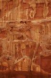 Fin rouge de texture de roche vers le haut Photo libre de droits
