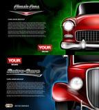 Fin rouge de voiture de vecteur de Digital vieille rétro vers le haut de maquette Images libres de droits