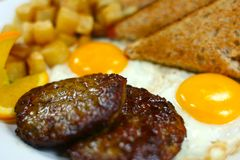 Fin saine délicieuse de repas Photographie stock libre de droits