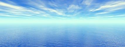 Fin Sky. Beautiful sea and sky - digital artwork Stock Photo