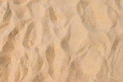 Fin strandsand i sommarsolen arkivbild