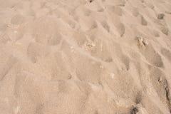 Fin strandsand i sommarsolen arkivfoton