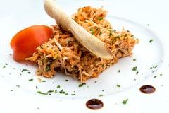 Fin äta middag kokkonst Fotografering för Bildbyråer