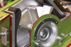 Fin vers le haut d'ensemble de roue à aubes et de lame en coupe de machine de souffle tiré pour industriel photo stock