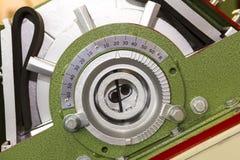 Fin vers le haut d'ensemble de roue à aubes et de lame en coupe de machine de souffle tiré pour industriel photos stock