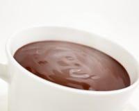 Fin vers le haut d'une cuvette de chocolat chaud Image stock