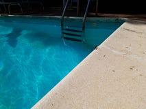 Fin vers le haut de belle libellule rose au bord de la piscine photographie stock