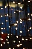 Fin vers le haut de décoration de lumière de conte de fées photo libre de droits