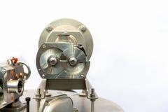 Fin vers le haut de détail en coupe d'exposition à l'intérieur de la technologie de pointe et de la pompe à vide de vis de qualit photo libre de droits