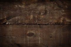 Fin vers le haut de fond rustique foncé, vieille table supérieure de texture Fond de cru Texture grunge en bois, vue supérieure d photos stock