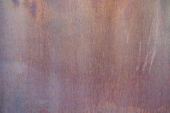 Fin vers le haut de rouille sur la surface du vieux fer, vieux fond en acier d'abrégé sur panneau de feuillard images stock