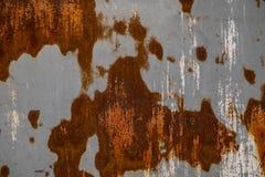 Fin vers le haut de rouille sur la surface du vieux fer photo stock
