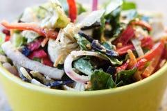 Fin vers le haut de salade rustique Photographie stock libre de droits