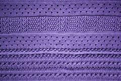 Fin violette tricotée de fond de tissu  photographie stock