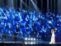 Finał Eurowizyjny 2017 na scenie Międzynarodowy Exhib Obraz Stock