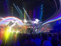 Finał Eurowizyjny 2017 na scenie Międzynarodowy Exhib Obrazy Stock