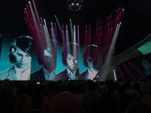 Finał Eurowizyjny 2017 na scenie Międzynarodowy Exhib Zdjęcie Stock