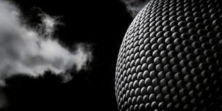 Fina Art Monochrome av modern arkitektur, Selfridges byggnad royaltyfri foto