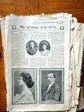 Fina ocha förnäma damen. Viktoriansk illustrerad tidskrift Royaltyfri Bild
