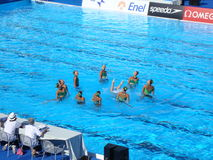 FINA World Championship. SYNCHRONISED SWIMMING at the FINA World Championship - Roma 2009 Stock Image