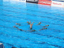 FINA World Championship. SYNCHRONISED SWIMMING at the FINA World Championship - Roma 2009 Royalty Free Stock Photos