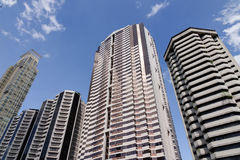 Finace buildings at Makati city in Manila, Philippines Royalty Free Stock Image