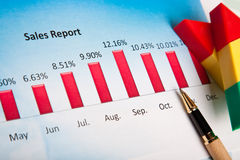 Finacial chart Stock Photo