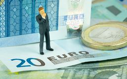 Finacial Doubts over the Euro Stock Images