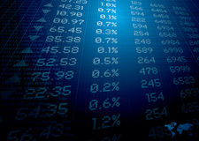 Finacial figures Stock Image