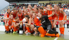 Finais das mulheres. Copo europeu Alemanha 2011 do hóquei Fotografia de Stock