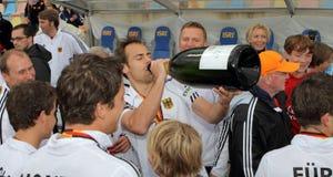 Finais dos homens. Copo europeu Alemanha 2011 do hóquei Imagem de Stock Royalty Free