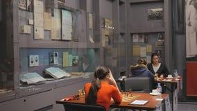 Finais super do campeonato da xadrez do russo video estoque