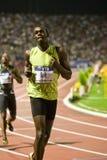 Final 2009 del atletismo del mundo del Mens el 100m del tornillo de Usain Imagen de archivo libre de regalías