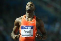 Final 2009 do atletismo do mundo do Mens 100m de Asafa Powell Imagens de Stock