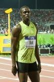 Final 2009 do atletismo do mundo do Mens 100m do parafuso de Usain Foto de Stock Royalty Free