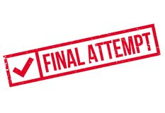 Final Attempt rubber stamp Stock Photography